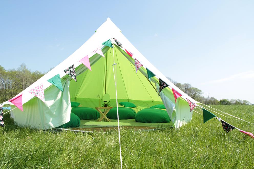 Bay Lily Bell Tent Fiesta Fields
