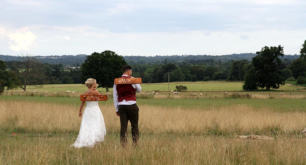 Countryside views ay Fiesta Fields in Surrey