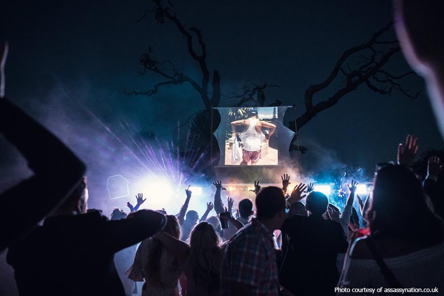 Festival wedding at Hidden Valley