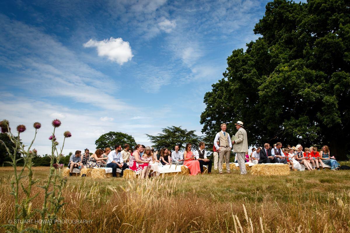 Outdoor ceremony at Hidden Valley
