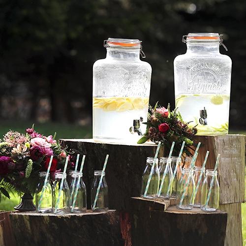 DISPENSERS AND MILK BOTTLES  8 litre dispenser @ £10 / Milk bottle with straw @ 50p each