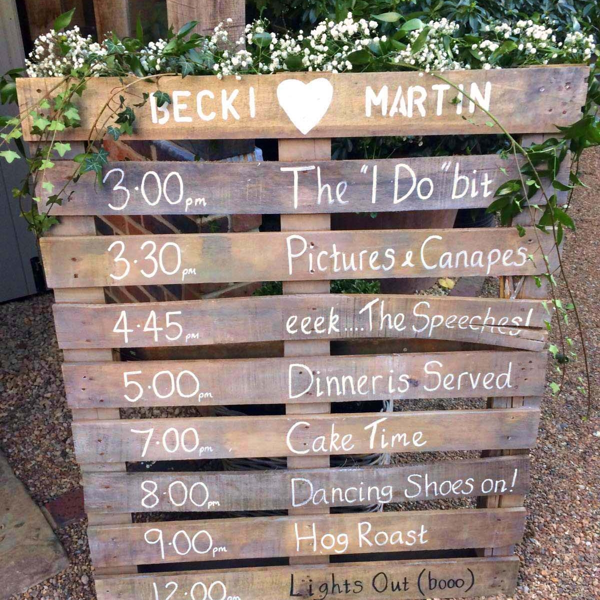 ORDER OF THE DAY PALLET  Personalised order of the day pallet @ £30