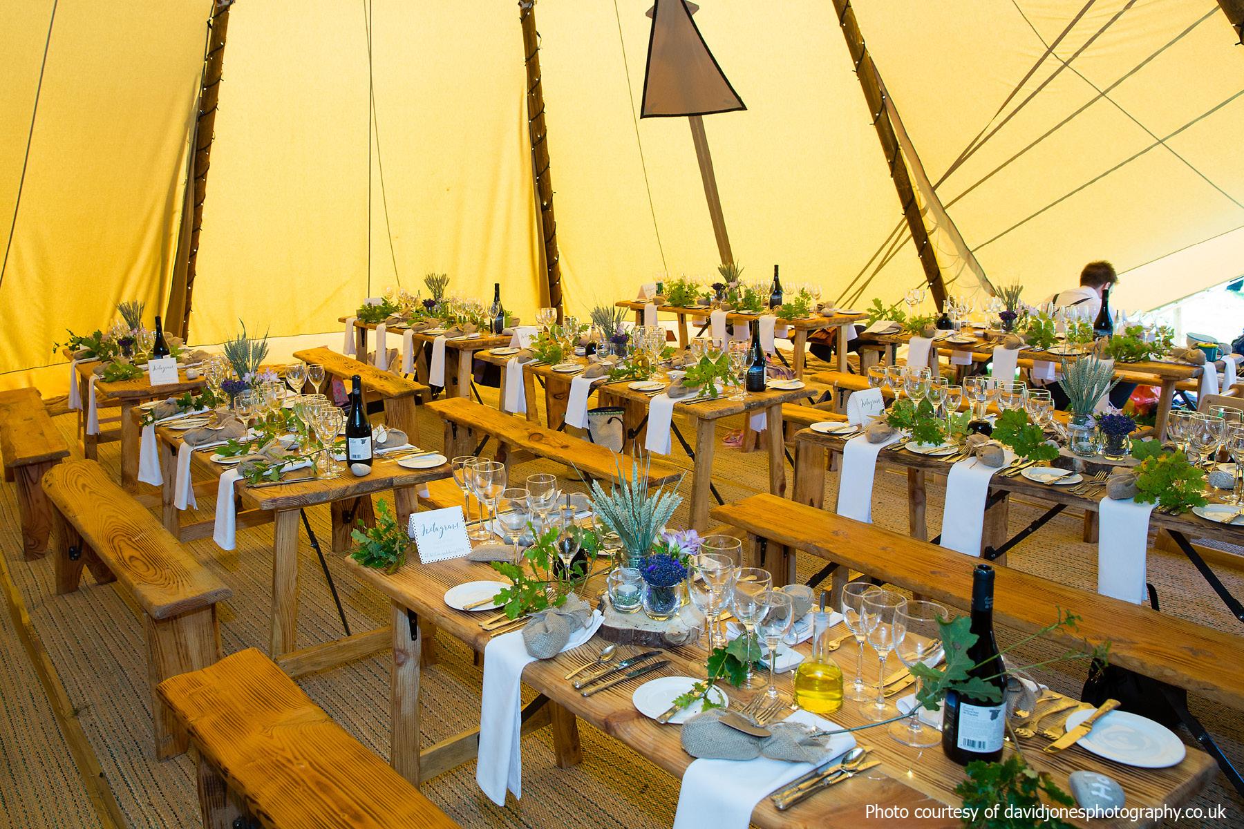 Tipi wedding at Staffhurst Wood