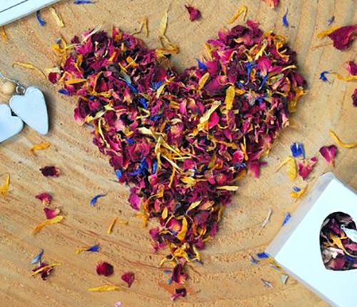 NATURAL PETAL CONFETTI  Natural, biodegradable and gorgeous real petal confetti £9.95 per litre