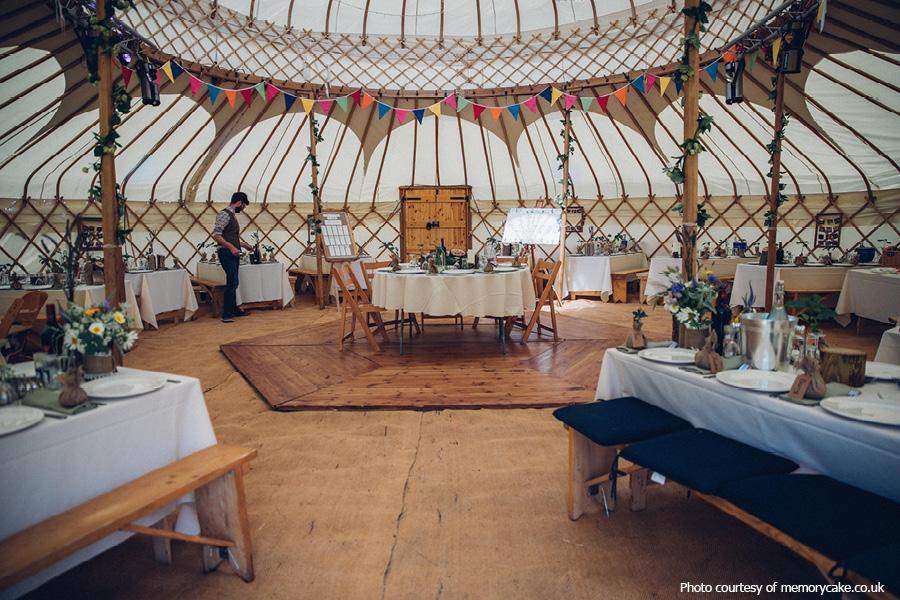 Yurt wedding at Phoenice Fields