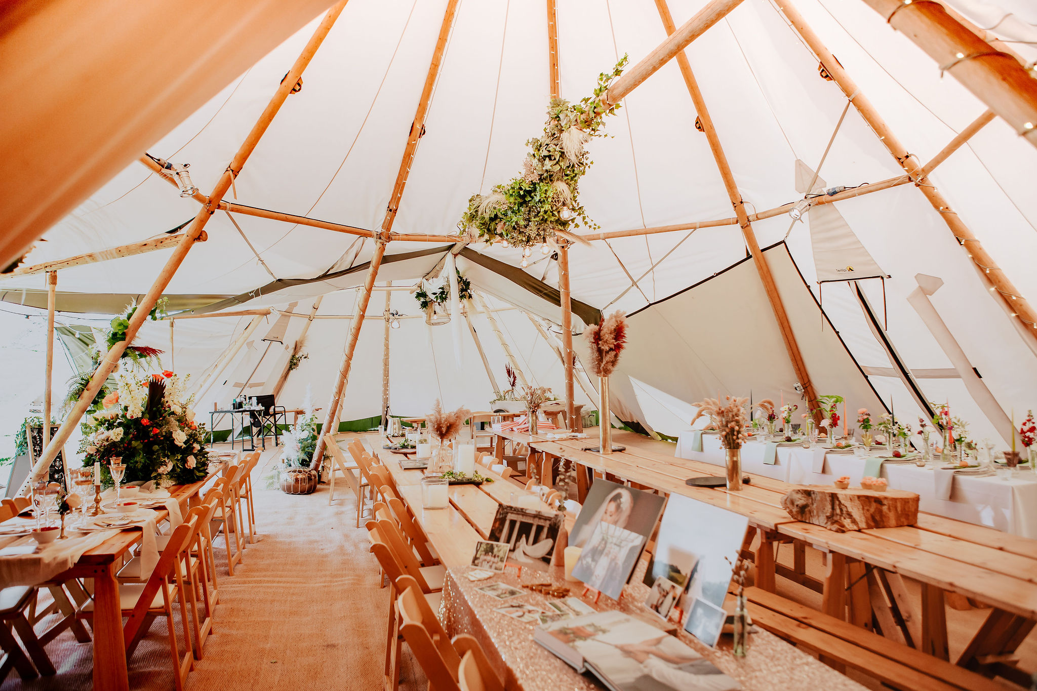 Love the quality of light in the white canvas tipis