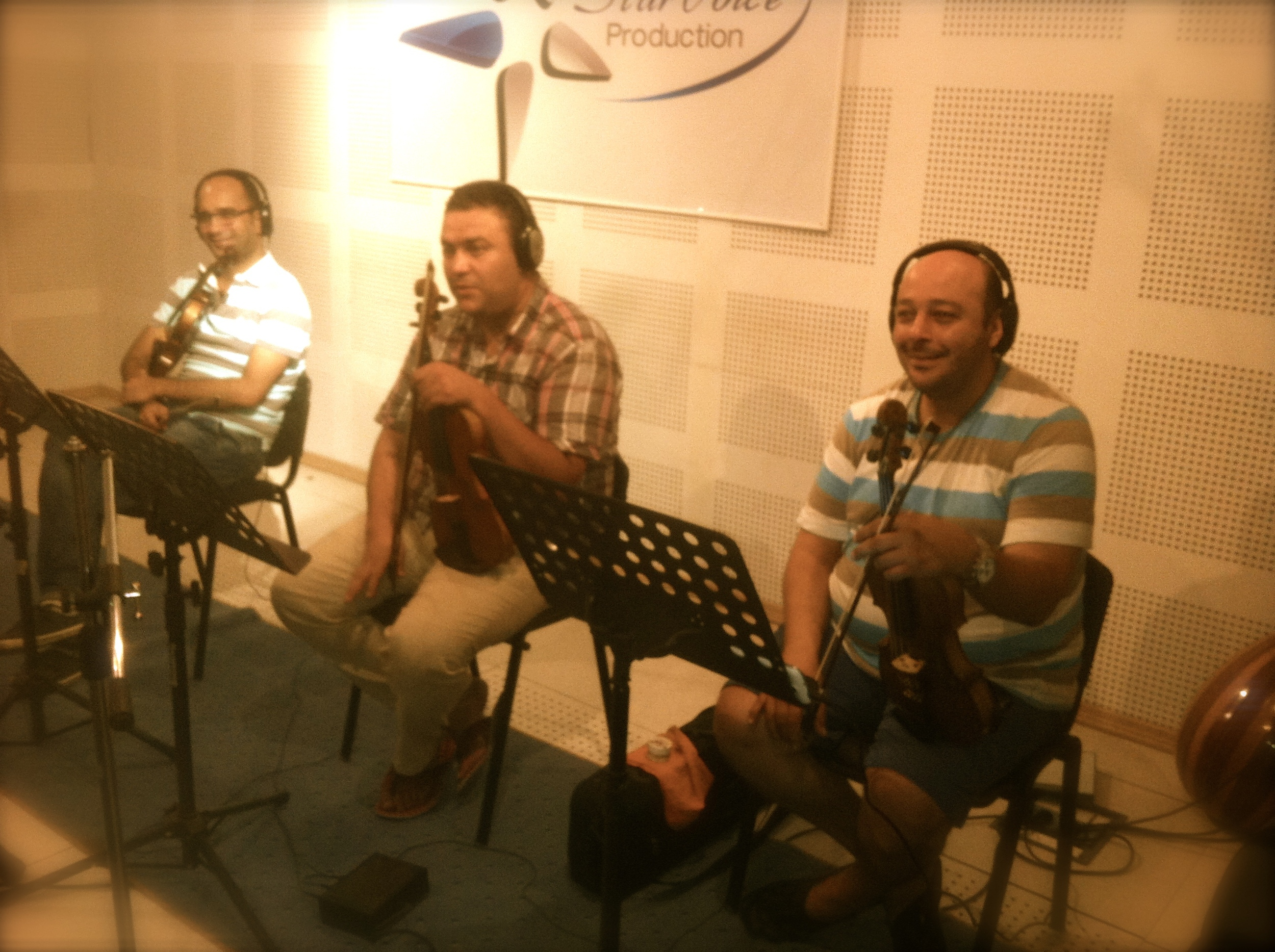 The violinsection: Mohamed, Otelo and Samir.