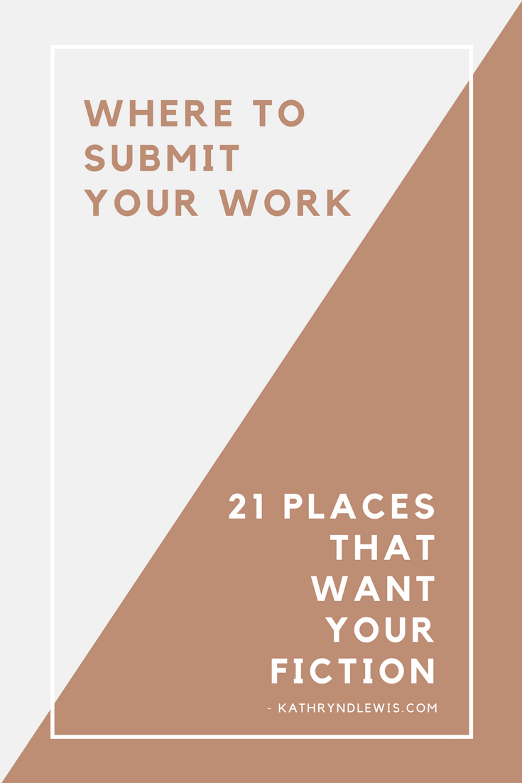 Because your work deserves to be read, here are 21 opportunities to submit in what remains of April and May. That's 21 chances you could be published, win a prize, be recognized for being the kick-ass talent you and I know you are.