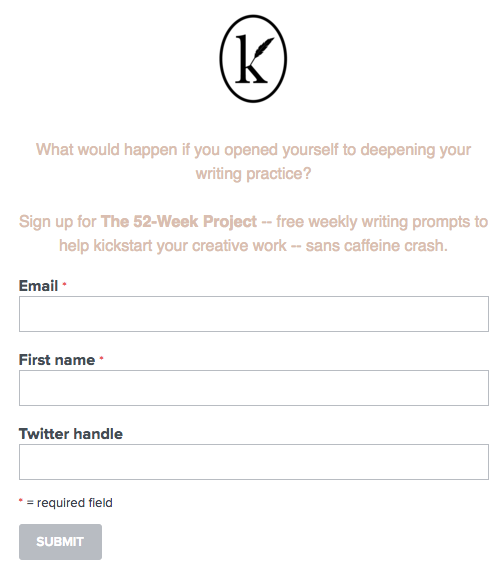 52-Week Project signup form