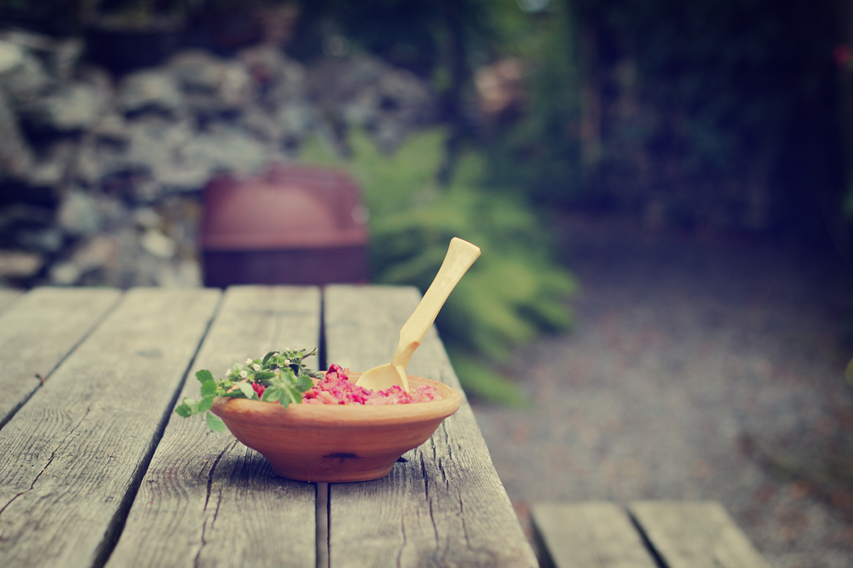 Lunch is better when eaten with a wooden spoon, from a wooden bowl