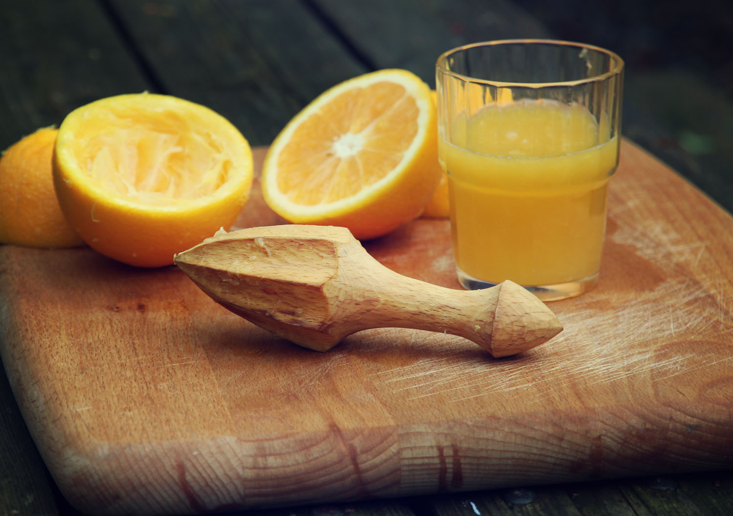 You should really treat yourself to a beech reamer to make your morning orange juice...