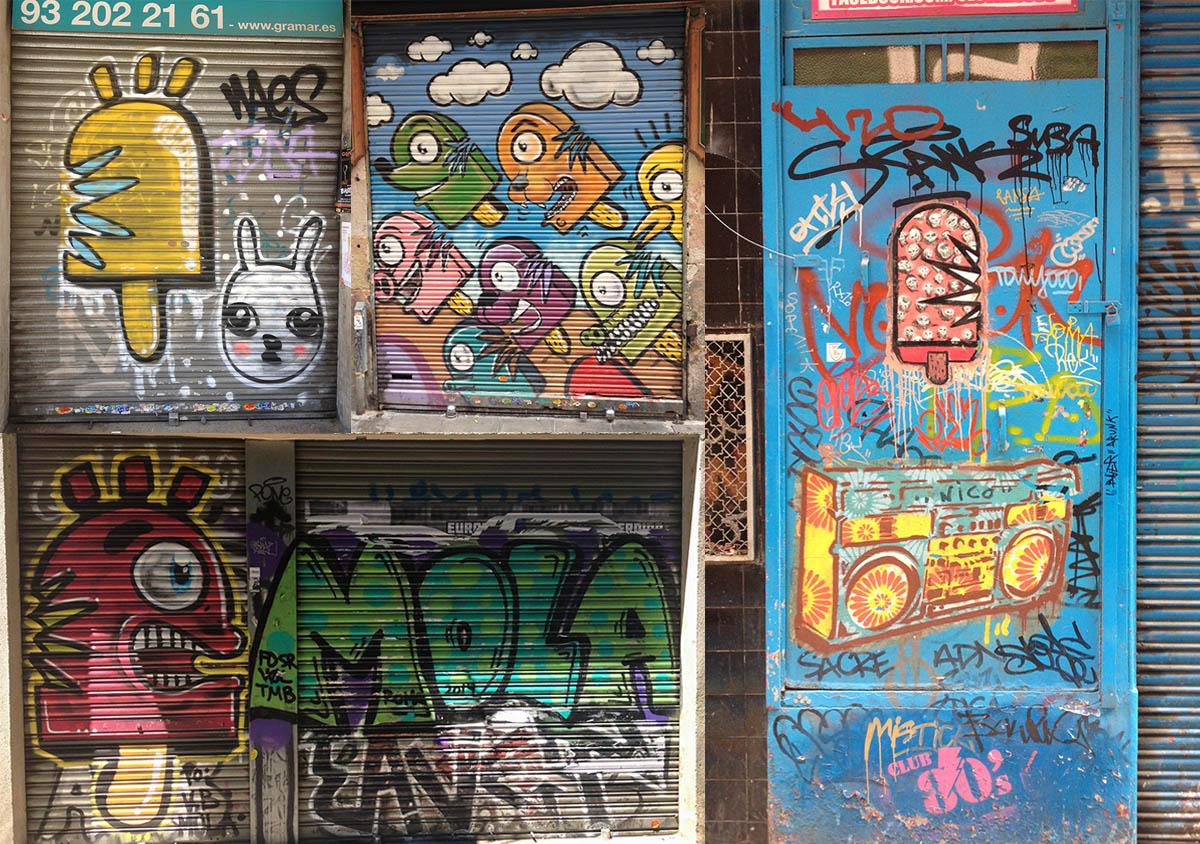 A tiny sample of the wonderful graffiti of Konair in Barcelona.