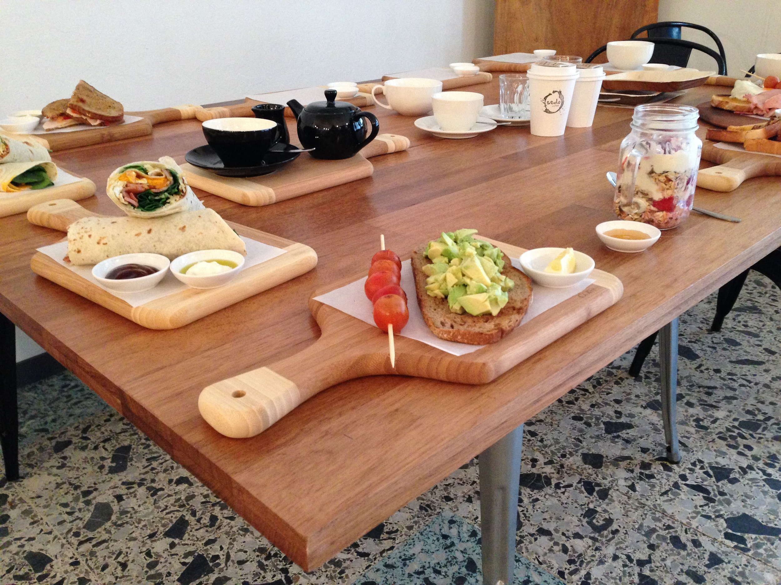 All meals served on our signature wooden paddles