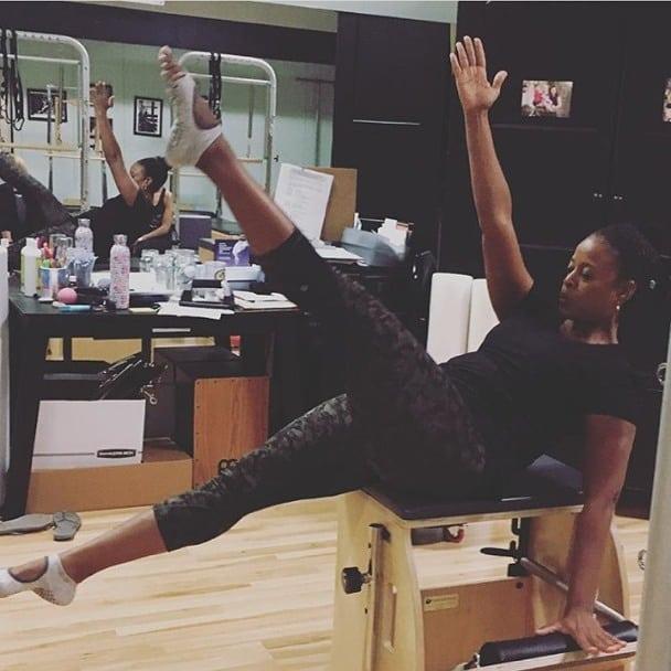 Professional Pilates instructors working hard at Lolita's PMMP @cecipulido.1 . . . . #lovetucketts #freedomfortoes #befree #yoga #pilates #barre #yogasocks #pilatessocks #barresocks#tuckettsforeveryone #gripsocks #stickysocks #fitness #fitfashion #sockstyle #barefootworkout #fitfluential #womenowned #activewear