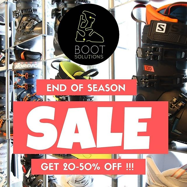 END OF SEASON SALE !!! ⁣⁣ ⁣⁣ - 20% off 2018 boots ⁣⁣ - 50% off 2017 boots ⁣⁣ - 30% off all accessories & apres boots⁣⁣ ⁣⁣ Visit one of our stores to find out more! ⁣⁣ ⁣⁣ |#BootSolutionsJapan #Niseko #NisekoVillage #Hakuba