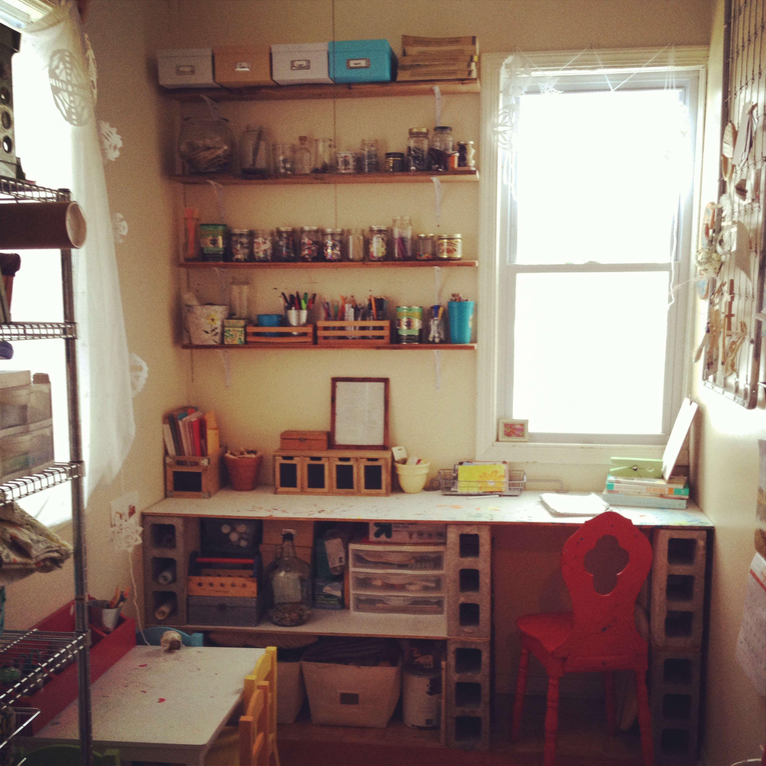 "PGR's first ""place"": The pantry of our apartment in Logan Square which I also used to store food and let my kids do all the crafting and mess making."
