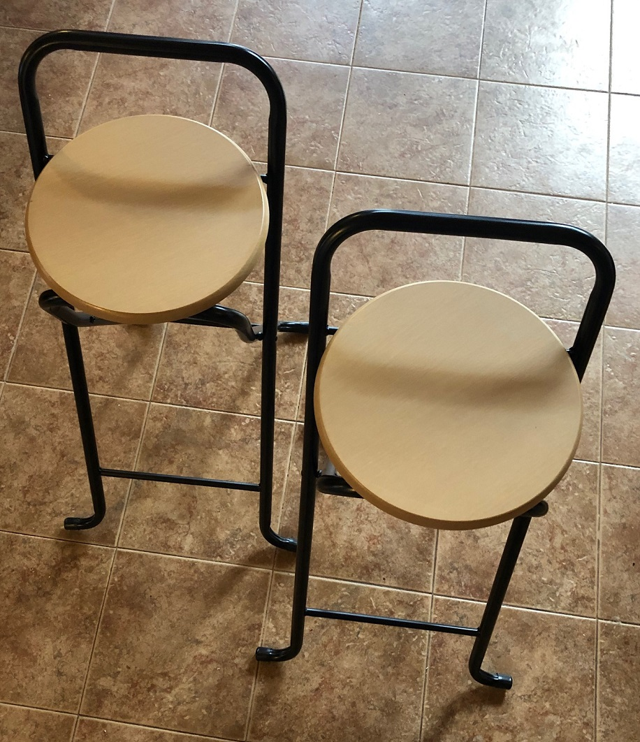 Set Of 2 Folding Bar Stools I