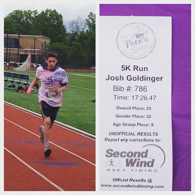 So proud of Josh participating in a great event today. Run on Josh, many more races to come.
