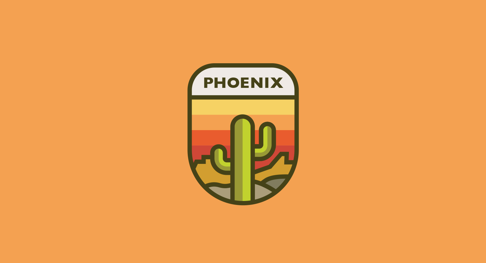 Cactus illustration Phoenix Snapchat Geofilter by Josh Namdar