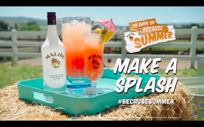 Malibu Rum : #BecausesSummer
