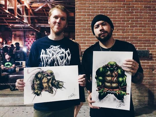 Zack and Josh, two of my buddies who is crazy about TMNT bought these pieces last night.