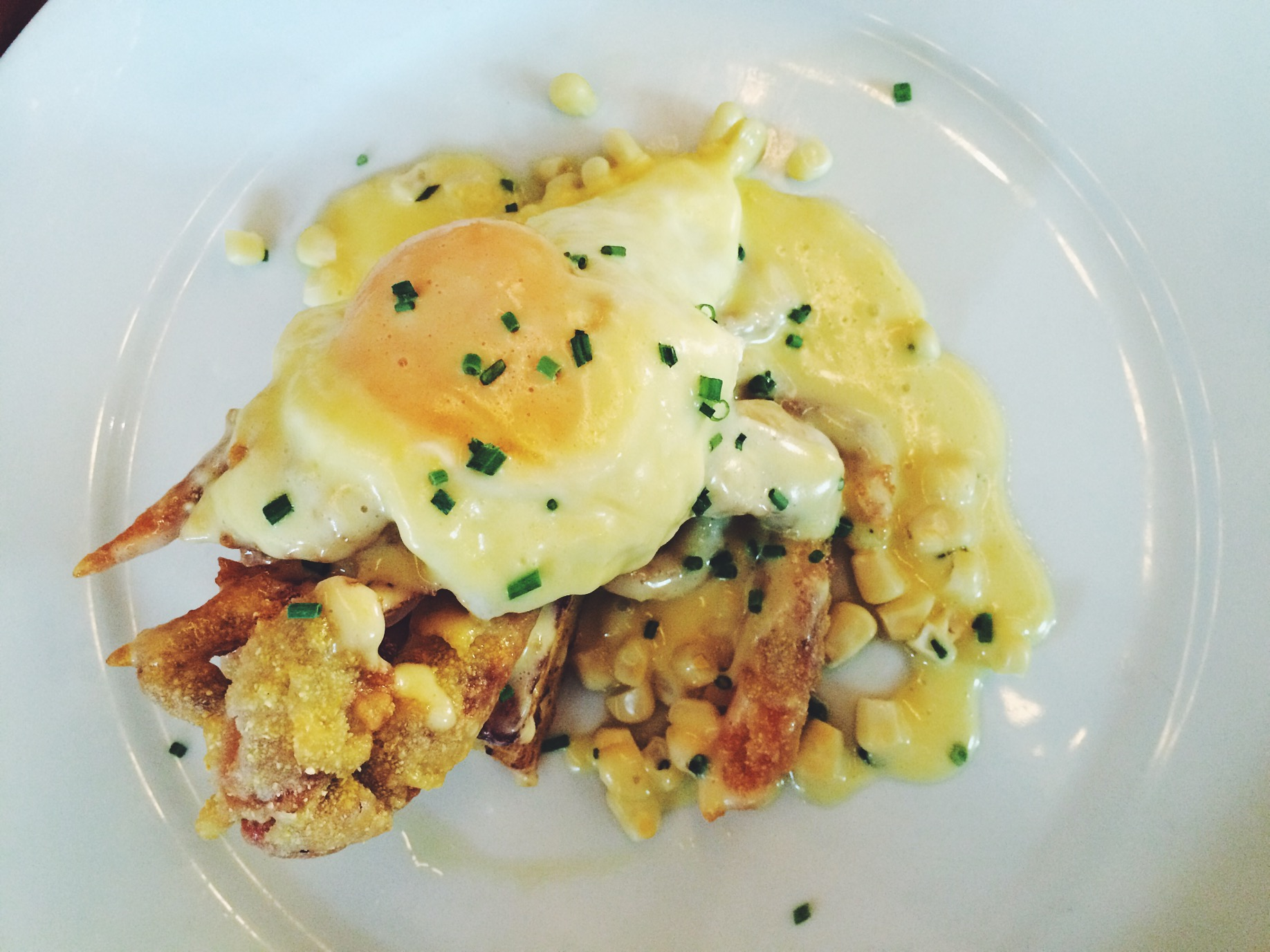 The Soft Shell Crab Benny!! I usually have my Bennies for breakfast but this was on their dinner menu.