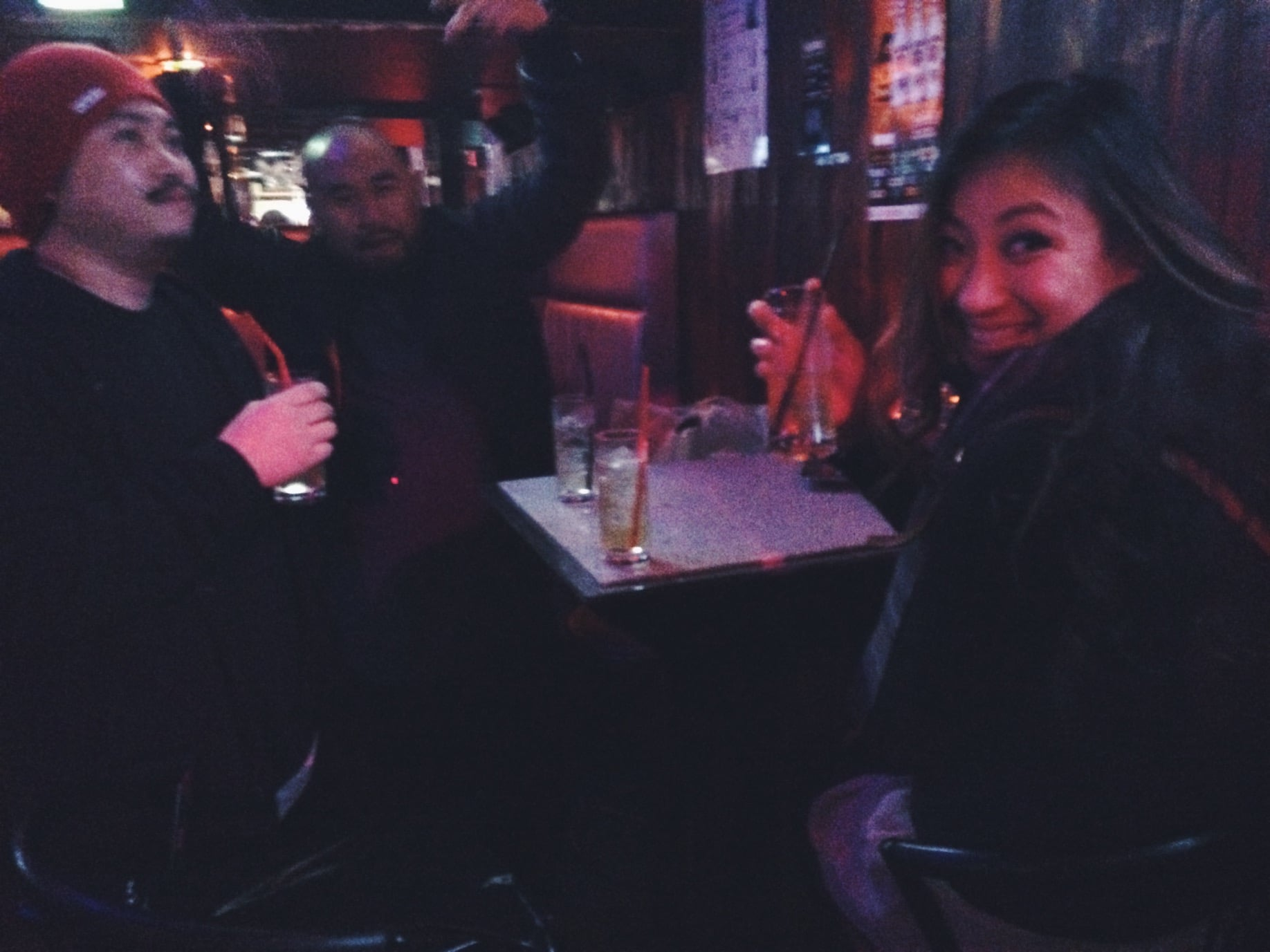 We heard loud american music from a bar so we thought it was poppin'. We were wrong, it was just us in the small as bar lol.