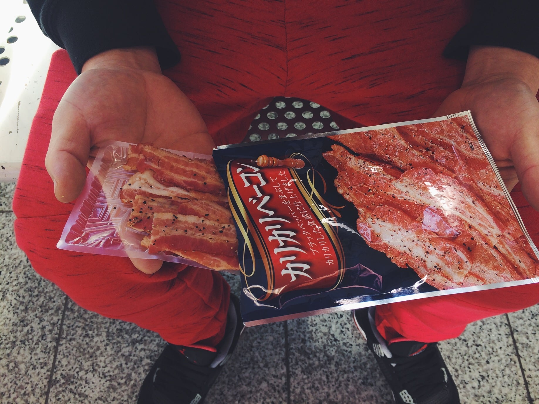 Robert is always buying bacon anything.