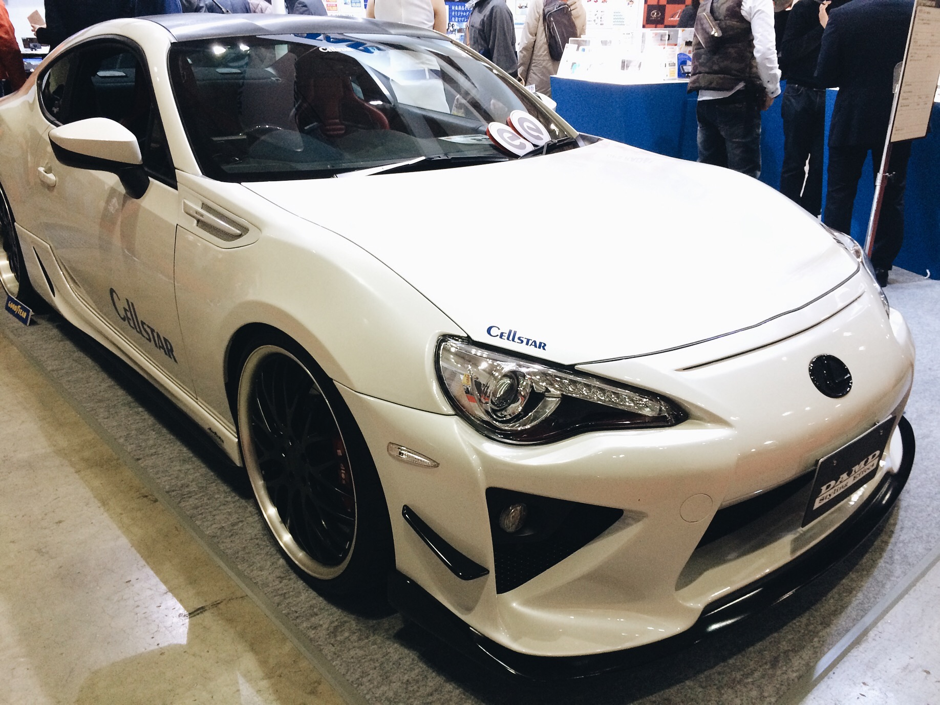 This was a weird one for me, its a Scion FR-S but it has a Lexus badge, with the lexus signature design and LFA style front bumper and exhaust pipes.