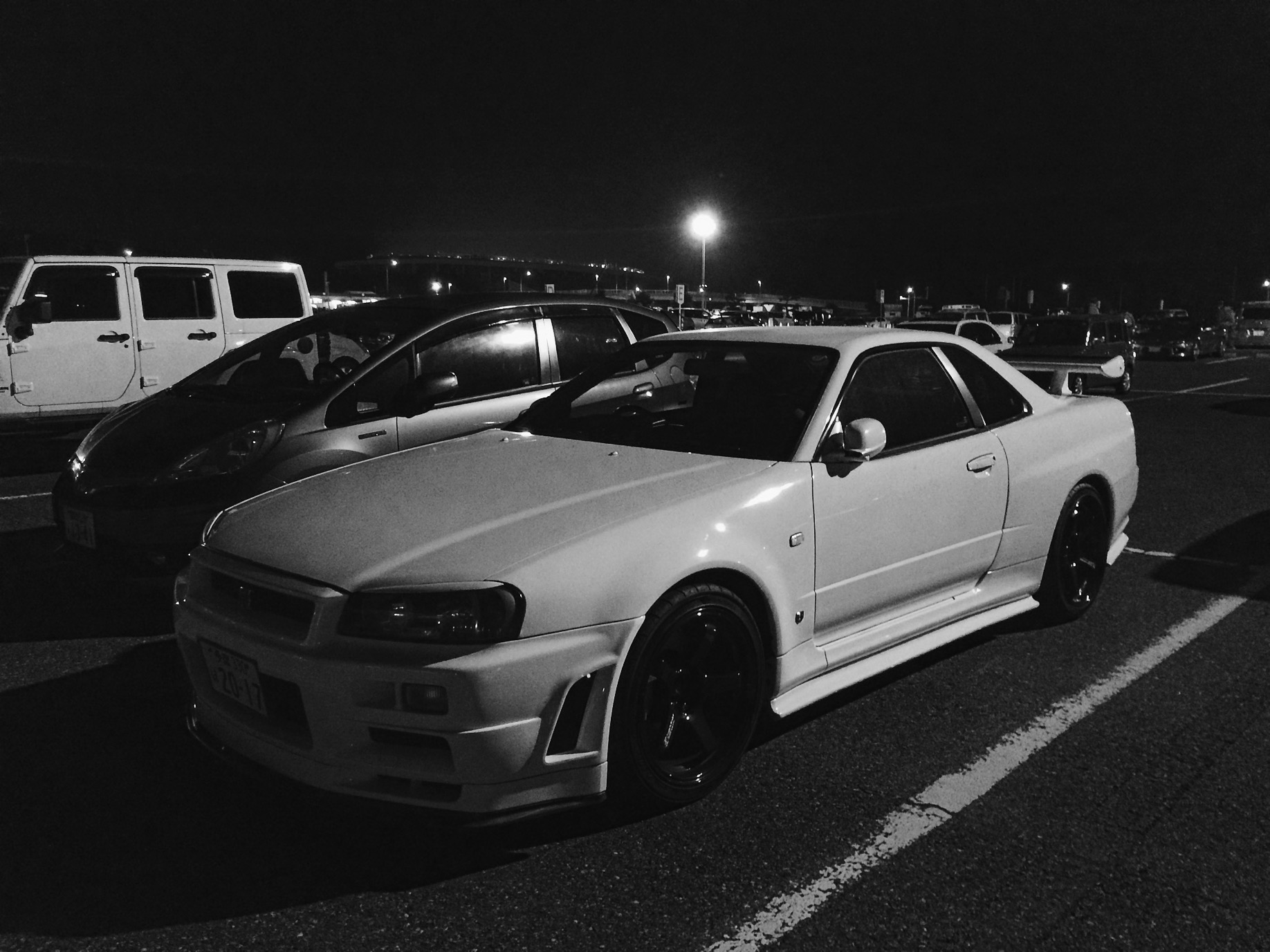 The other king of all cars. Spotted in the parking lot of Tokyo Auto Salon.