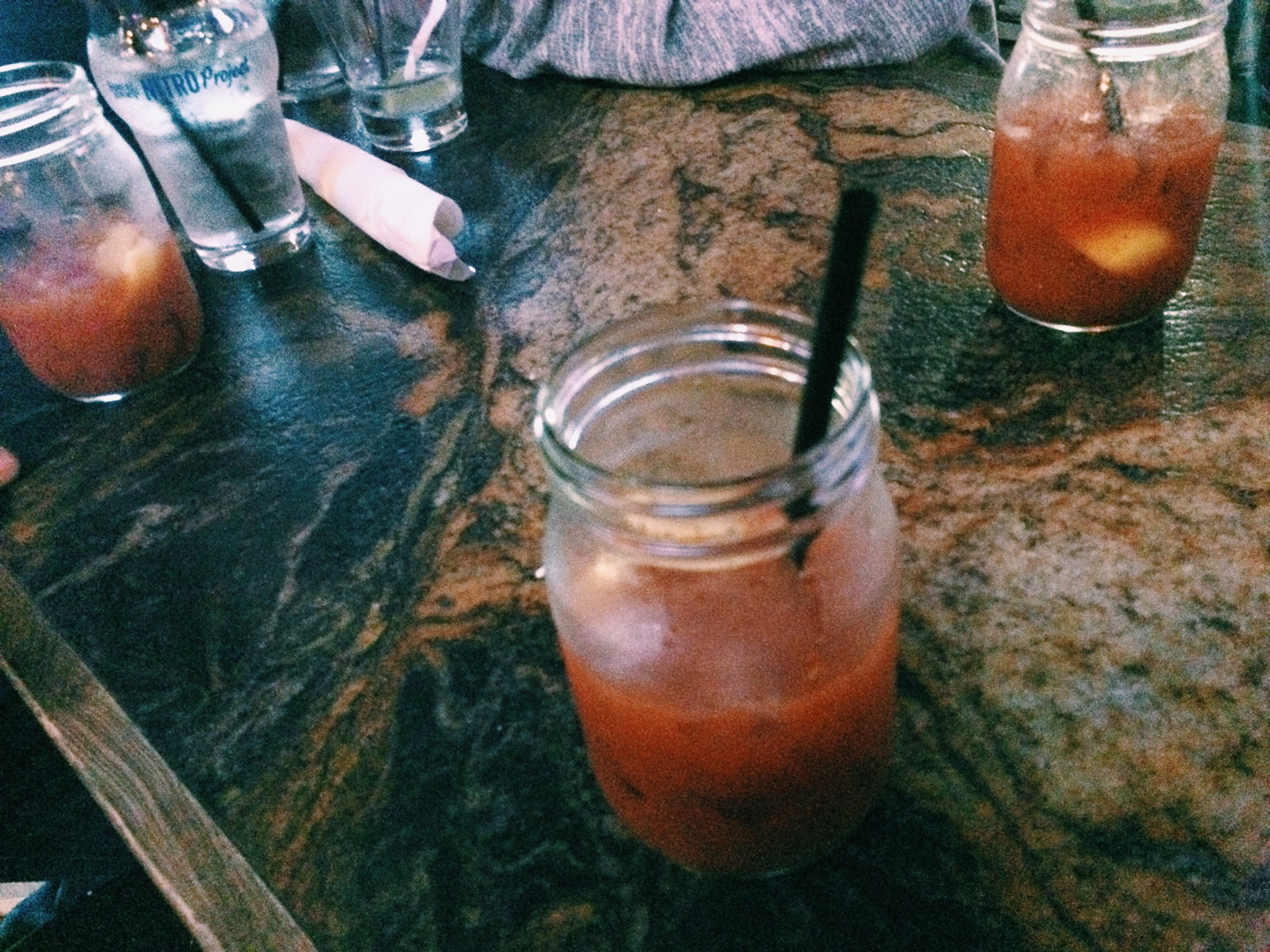 After a few rounds of beers we had a round of Bloody Marys. Shit was good though.