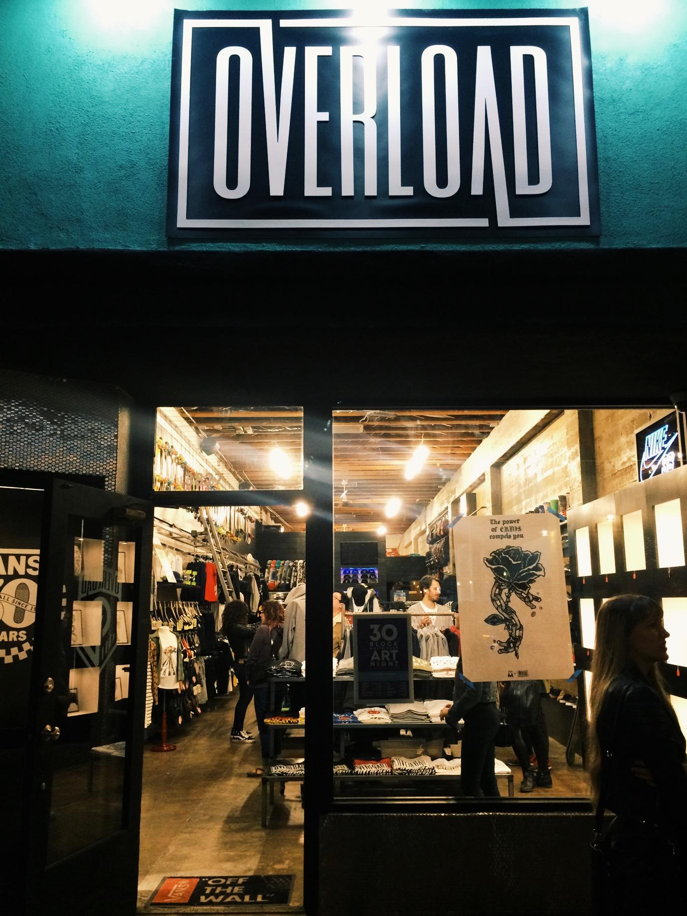 Overload store for art by Chris Bilyeu.