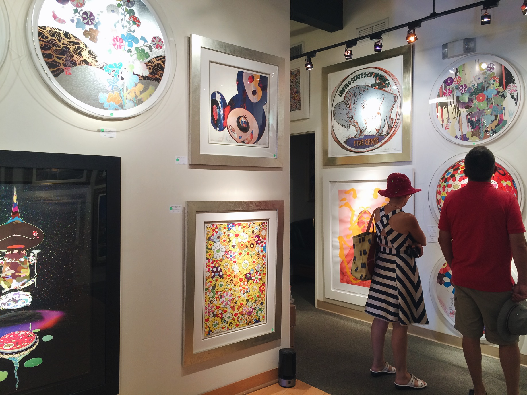 We checked out an art gallery that had Andy Warhol and Murakami's work.