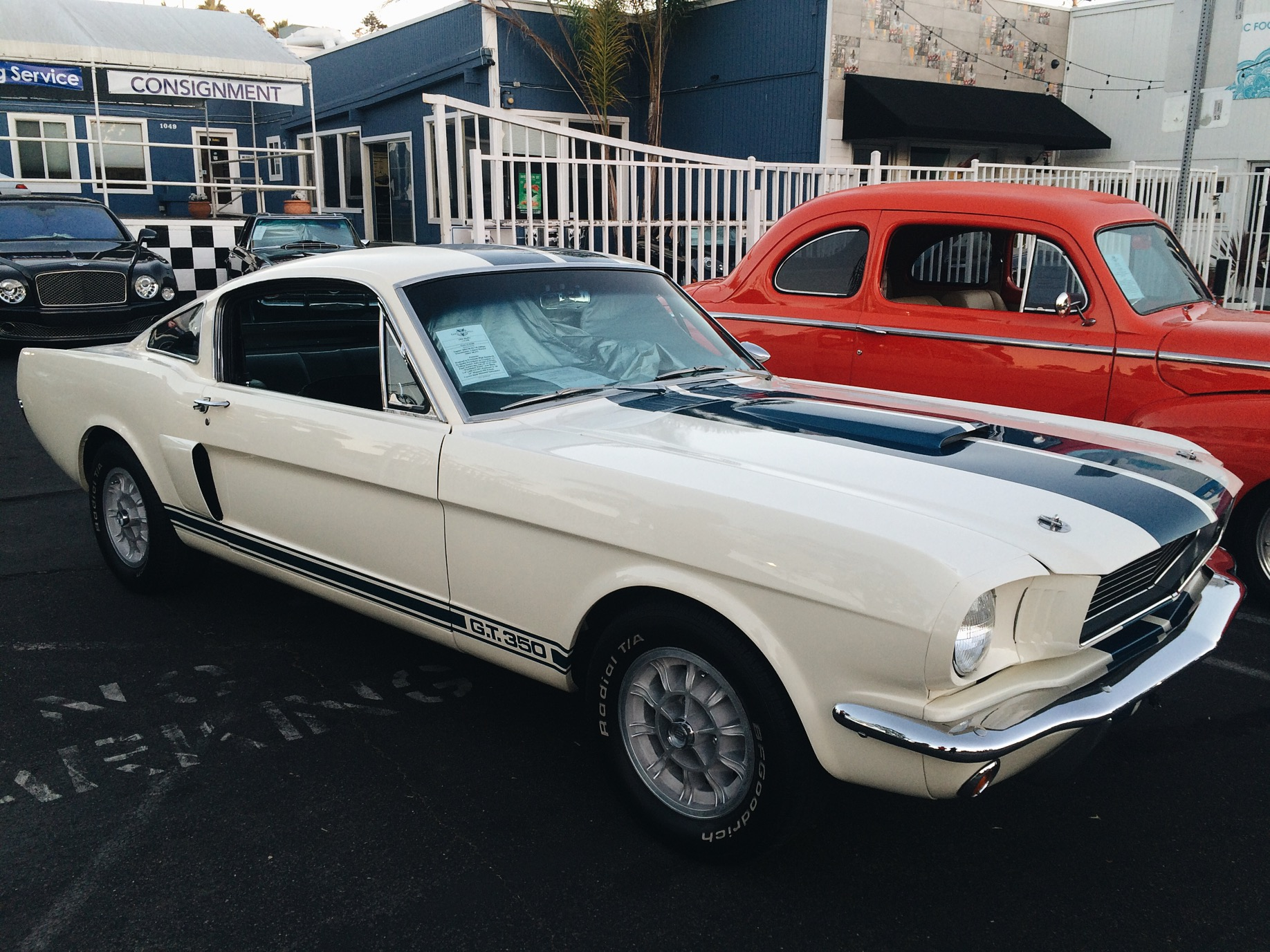 The answer is this 1965 Ford Mustang GT350, with a tag for $149,000 and the Bentley at $132,000.