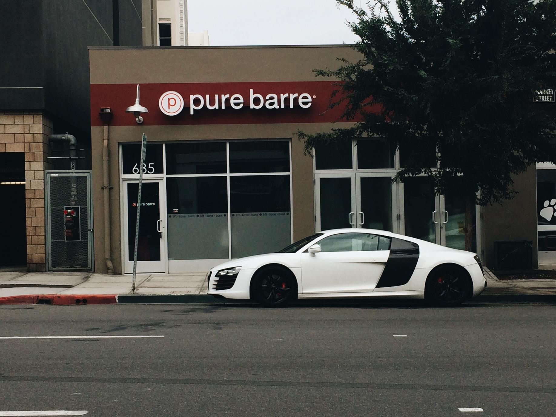 I love car spotting. Audi R8.