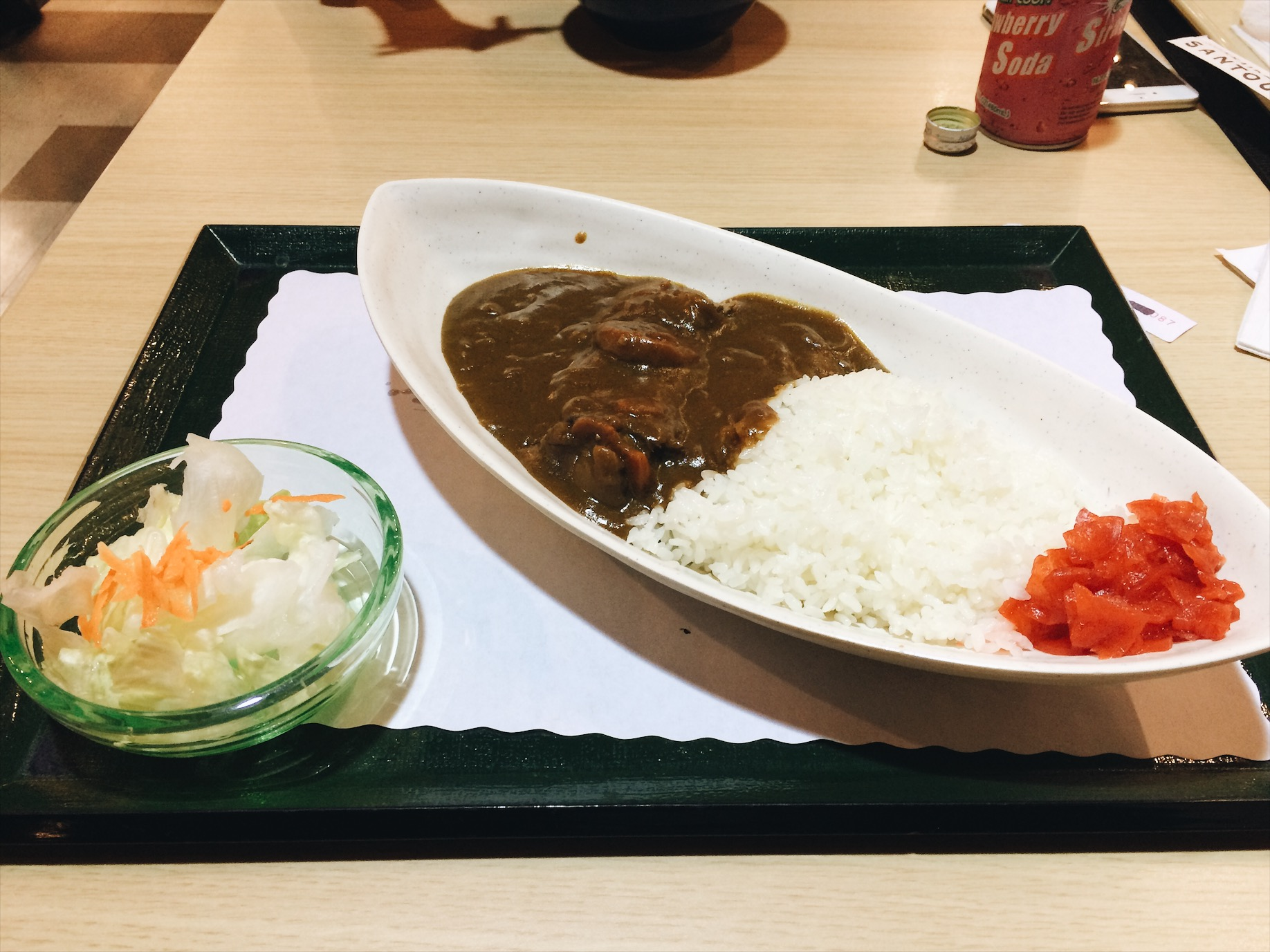I had the beef curry, not as good as the ones in Japan.