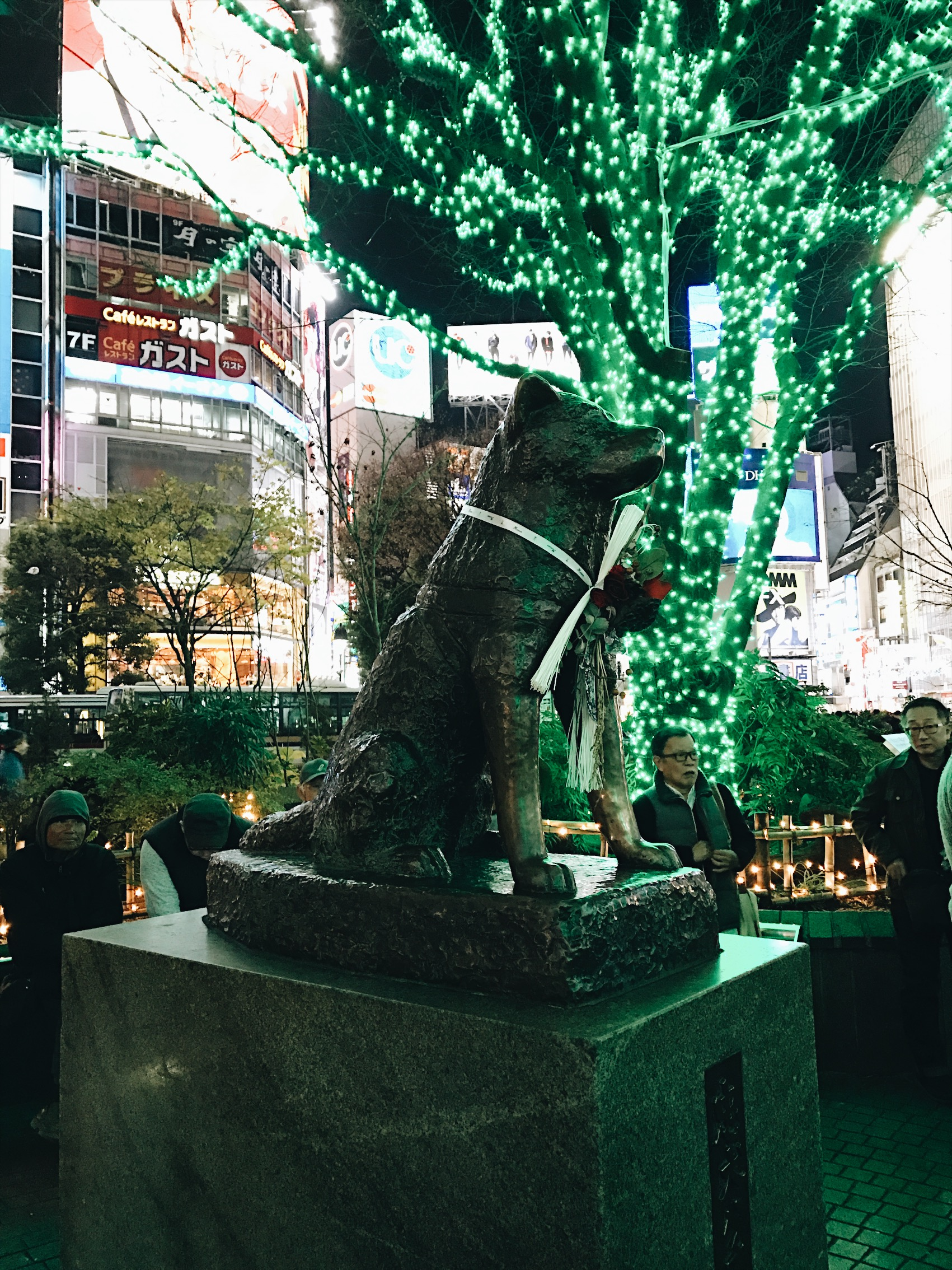 Finally get to see the Hachiko status !!! My hero.