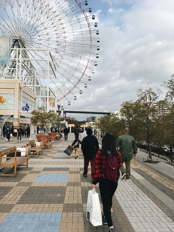Walking out of the mall and aquarium and to the train station we go! Osaka Castle here we come!!
