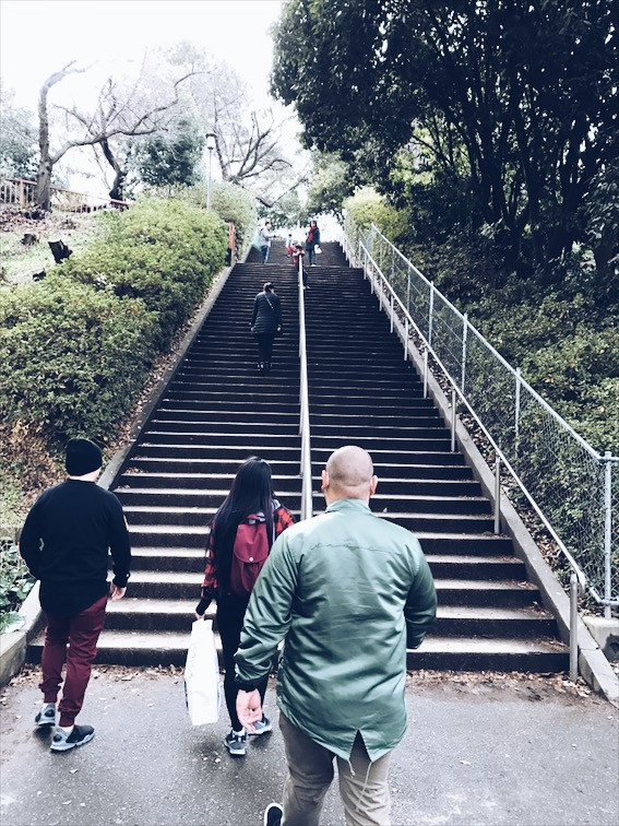 There's an easier way to the castle and not up these stairs by the way. I can't explain it but you'll soon find out if ya'll ever get to go to Osaka.