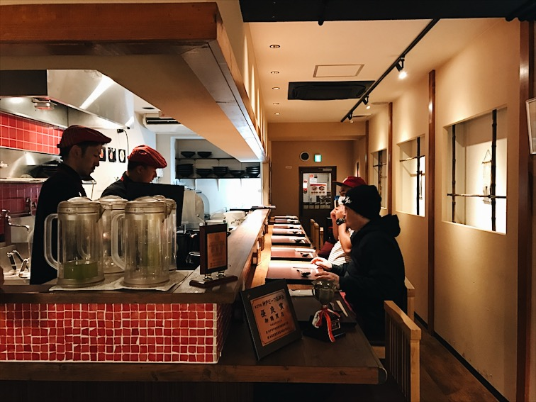 Inside the Kobe Beef Ramen joint.