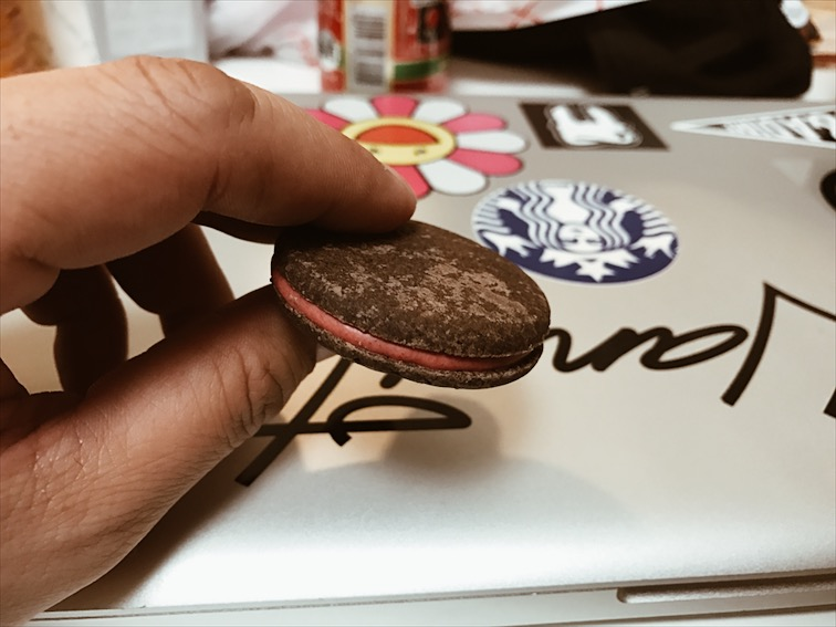 This shit is bomb! Taste like Oreos but with Strawberry. Meiji cookies.