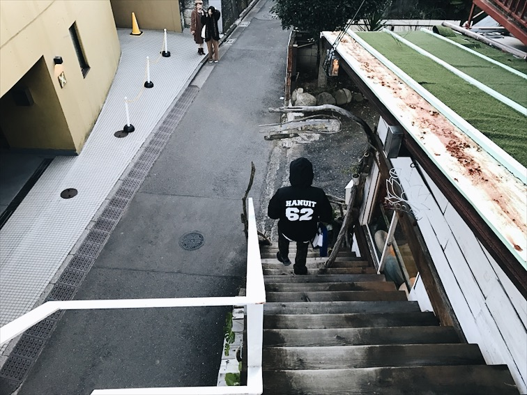 Hanuit in Japan, Robert always reppin the shit.