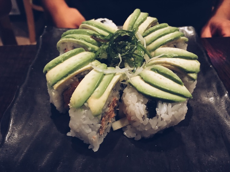 Okay, this is not really sushi but it's Special California, Dook's order.