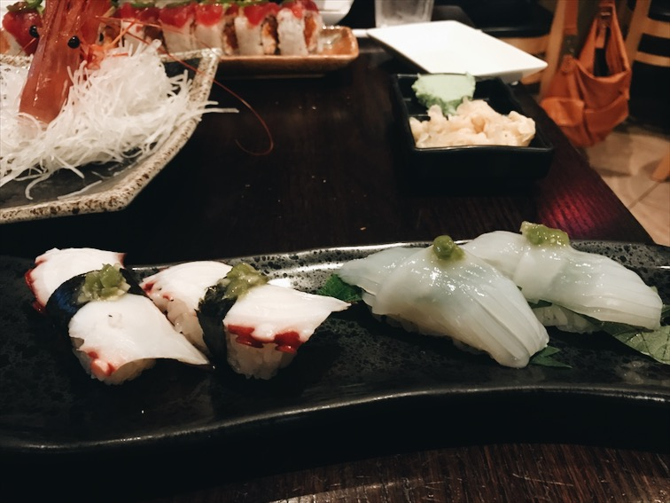 I ordered the Octopus and Squid, so tender, and tasty! Got damnit I want sushi now.