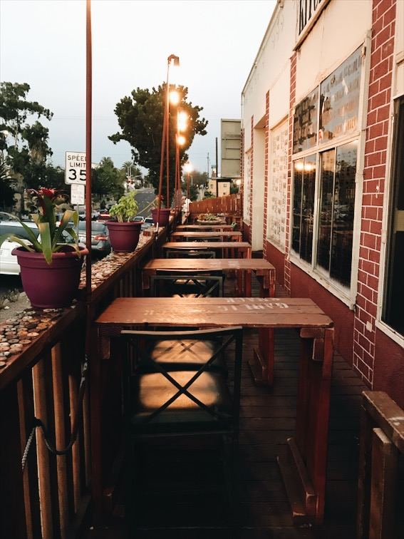 Outdoor seating, perfect for this summer night.