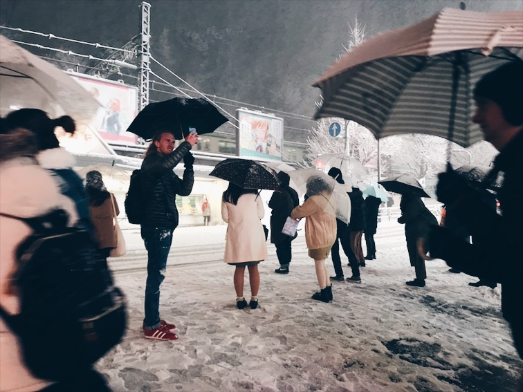 Girls out here still wears skirts and dresses even in the snow. Kids wear short too.