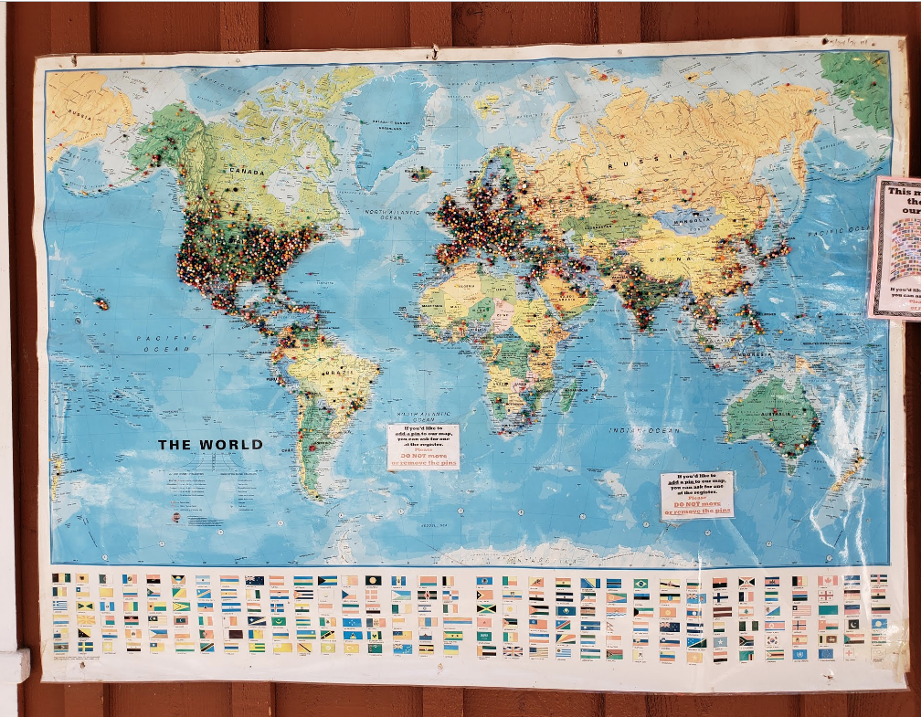 Maps of where their visitors are from.