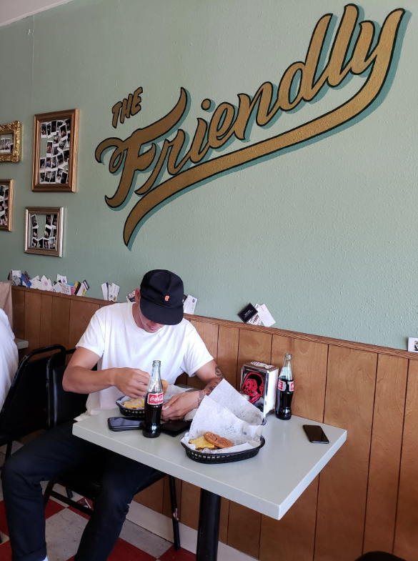 Once I was back in SD I met up with Mikey for some burgers at The Friendly.