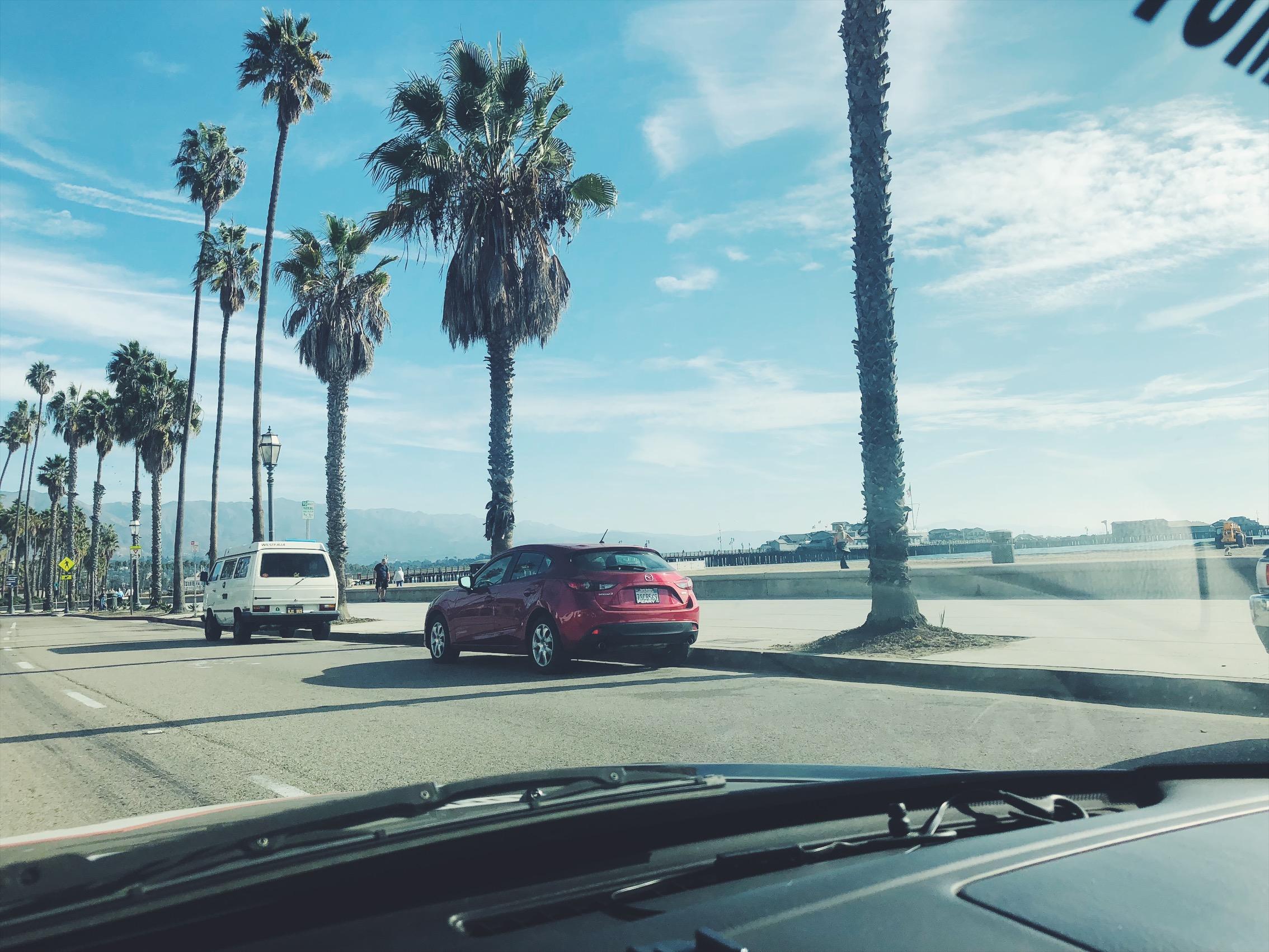 First official stop was Santa Barbara.