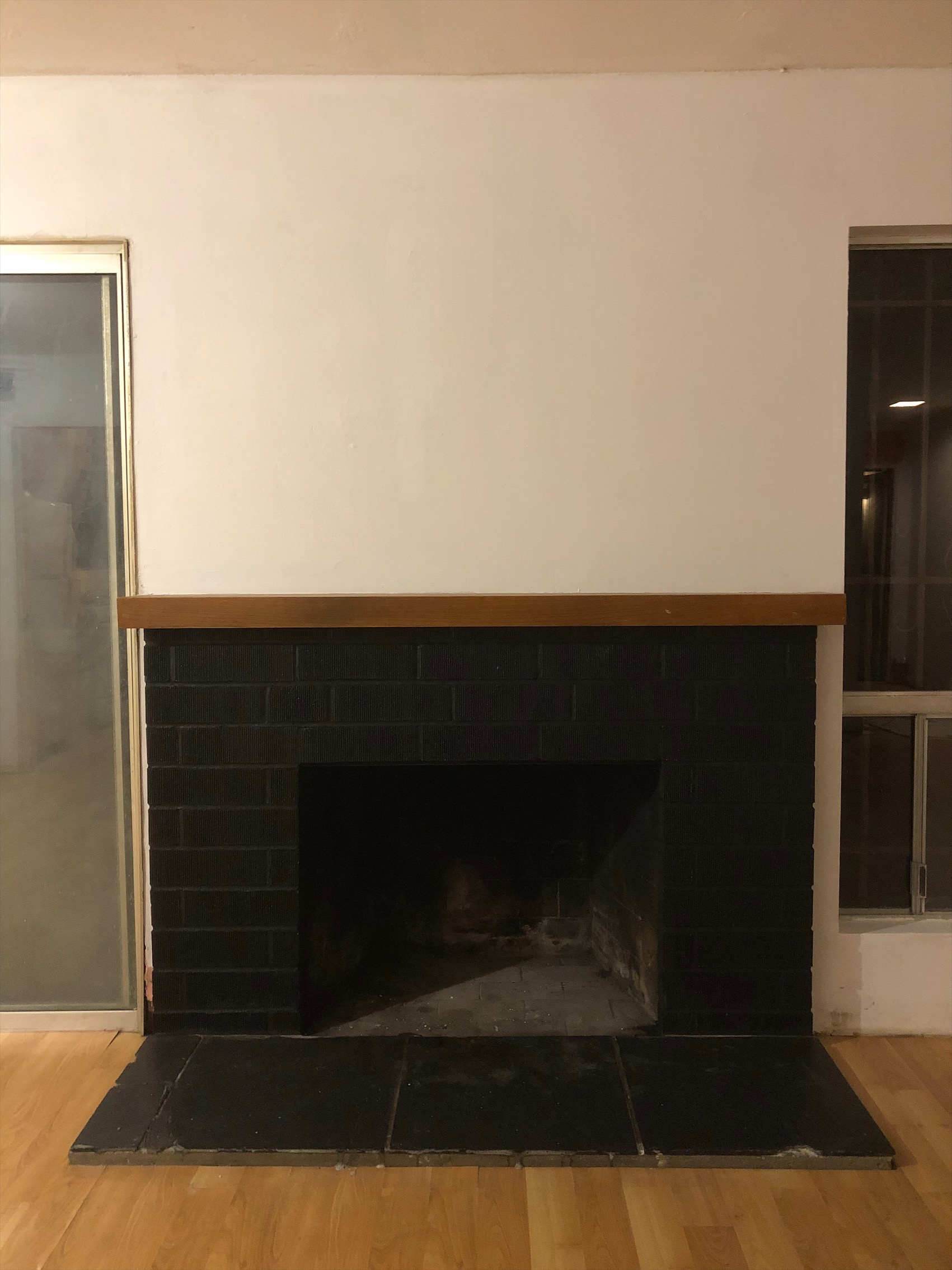 And this is what my fireplace look like now.